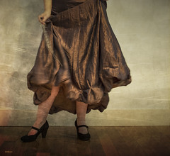 I'm Ready to Dance!                       Happy 7DWF! (jm atkinson) Tags: purple dance swing tango texture lady ballroom dress high heals sparkle movement gold glitter evening 7dwf open theme monday kerstinfranktexture