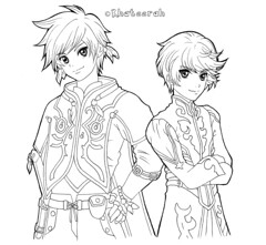 Tales of Zestiria BW (Khateerah) Tags: ps3 game fanart drawing colouring pencils chalk pastels fabercastell kohinoor tales zestiria manga anime