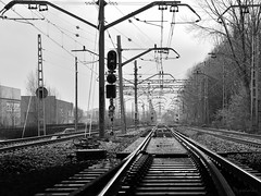 Trainway (Rusin3s) Tags: trainway via bw blancoynegro monochrome monocromo monocrom d3200 nikon sigma1750mm train girona catalunya catalonia cataluña gerona perspective perspectiva