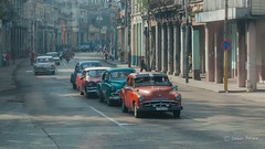 Straight out of the Fifties! (John Prior 55) Tags: cars cuba havana carsfromthe50s architecture travel streetscenes straightoutofthe50s shotfromamovingvehicle automobiles motorcycles