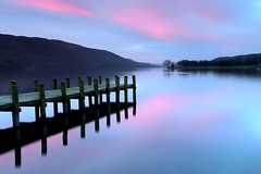 Coniston Lake, Cumbria. (Tony Armstrong-Sly) Tags: lakedistrict cumbria lake lakes water landscape sunrise dawn jetty colour clouds sky waterscape nature