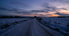 Dusk (Joni Mansikka) Tags: winter outdoor fields snow dusk sunset colours sky clouds rural paimio suomi finland sel16f28