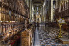 Peterborough Cathedral (Darwinsgift) Tags: peterborough cathederal cambridgeshire hdr photomatix pce 24mm nikkor f35 tilt shift nikon d810 church benches carpentry dioces christian atheist cathedral