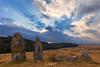 Sentinels (Subhadip C, AFIAP) Tags: mawphlang meghalaya khasi hills india subhadip crepuscular rays monoliths memorials stones sunset