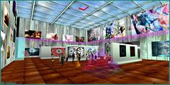 Création en direct d'une structure (Tim Deschanel) Tags: tim deschanel sl second life expo exposition exhibition art ⓓⓔⓢⓨ desy magic chapichapo delvalle cave gallery panarea island lacave