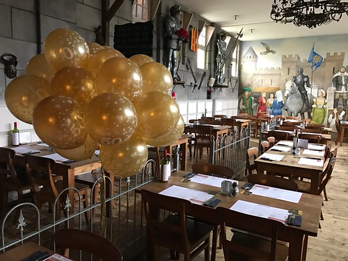 Heliumballonnen Goud 50 Jarig Jubileum Wapen van Poortugaal