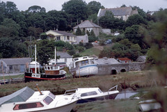 img845 (foundin_a_attic) Tags: 1984 st michaels mount mullion ctcoe cadgwith falmouth rose land cornwall boat river channel water sea cost trees ships sailing gweek quay boatyard fh507 uk england