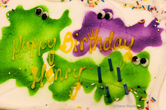 Three Ghosts (Spike's Shoes) Tags: cake green purple ghosts candles white frosting abstracts textures backgrounds patterns artwork graphic designs contrasts juxtaposition concepts horizontal indoor inside colour images imagery photographs photography pictures snapshots minnesota mn usa cs14 stpaul foundart stilllife steveskjold color stockphoto unitedstatesofamerica c5123018 ghostbusters henry 3 three happybirthday purplegreen scary