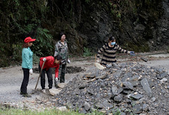 Women at Work (cowyeow) Tags: shennongjiaforestrydistrict working labor work rocks moving women girl girls chinesewomen composition asia asian china chinese street shennongjia road people peasants farmers hubei
