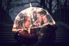 I choose U (thombe77) Tags: brandon woelfel light licht fairy fairylights lichterkette schirm umbrella nacht night couple paar pärchen love liebe canon eos 7d 50mm