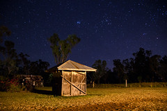 Quiet Night (peterreading) Tags: night star stars shed shack astro photo photography quiet peaceful toowoomba qld seq queensland sky bright farmstay farm land landscape skyline trees treeline relax relaxing evening