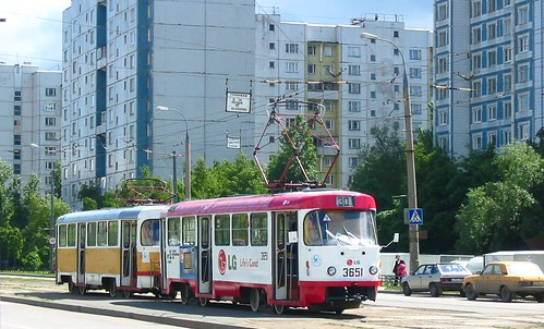 Moscow tram Tatra T3SU 3651
