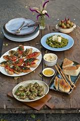 Dario's Pune (Anoop Negi) Tags: dario darios pune poona india food photography photo anoop negi bbc goodfood good magazine styling sona bahadur osho ashram pimento crostini bruschetta green sauce fusilii funghi mushroom olive olives platter plating ezee123