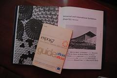 while my friend georgie (f o t o o r a n g e) Tags: expo67 guidebook worldsfair retrospectivebook