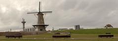 Panorama Oranjemolen Vlissingen (Tom van der Heijden) Tags: vlissingen oranjemolen oranjedijk walcheren zeeland molen bankje uncle beach herdenkingsgebied