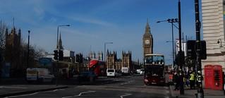 Westminster Bridge, Parliament, Westminster Abbey etc.