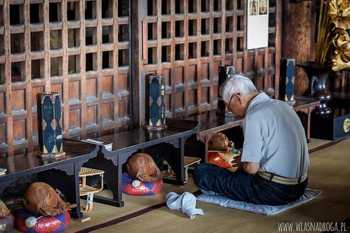 W świątyni. Nara
