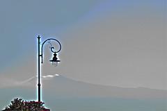 Buona notte Etna (aspettando la prossima eruzione) (Maurizio Belisario) Tags: lamp silhouette volcano lamppost etna sicilia vulcano lampione