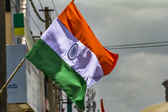 Happy Independence Day!!! (Aiel) Tags: india flag bangalore independenceday tricolour indianflag august15 bengaluru jpnagar canon60d tamron70300vc