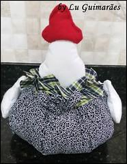20150817_165036 (Artesanato com amor by Lu Guimaraes) Tags: galinha artesanato porta fuxico decoração peso tecido enfeitecozinha