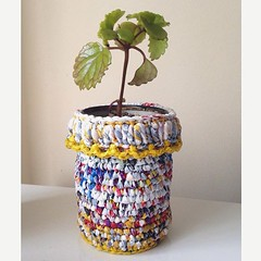 Ecomacetero  (Crea en verde) Tags: crochet knitted recycle planter ecofriendly crocheting macetero tejer tejido reciclado upcycling reciclandoando ilovecrochet creaenverde instagram ifttt