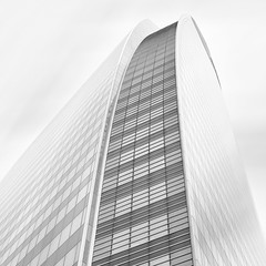 Tour T1 (Giles McGarry (formerly kantryla)) Tags: longexposure blackandwhite paris france building architecture square ladefense highkey morewhitethanblack tourt1