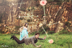 Candy + Alex (LTOS) Tags: bride flying creative levitation lifestyle  bridetobe         brideintheair