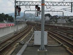 1536 San'in Switch (mari-ten) Tags: japan kyoto zoom railway trainstation 日本 kansai 駅 eastasia 2014 fukuchiyama 京都府 青春18きっぷ 福知山市 関西地方 201407 seishun18travel 20140720