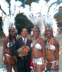 Dr. Takeshi Yamada and Seara (Coney Island sea rabbit) with the beautiful paraders at the West Indian American Day Parade (Labor Day Parade) at the Eastern Parkway in Crown Heights in Brooklyn, NY on September 7, 2015. 20150907 100_9872=3035s20pC top2 (searabbits23) Tags: ny newyork sexy celebrity art hat fashion brooklyn painting asian coneyisland japanese star costume tv google king artist dragon god cosplay manhattan famous gothic goth performance pop taxidermy cnn tuxedo bikini tophat unitednations playboy entertainer takeshi samurai genius mermaid amc johnnydepp mardigras salvadordali unicorn billclinton billgates aol vangogh curiosities sideshow jeffkoons globalwarming takashimurakami pablopicasso steampunk yamada damienhirst cryptozoology freakshow barackobama labordayparade westindianamericandayparade seara immortalized takeshiyamada museumofworldwonders roguetaxidermy searabbit ladygaga climategate