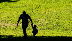 Father and Daughter (My Americana) Tags: nyc newyorkcity people centralpark manhattan streetphotography silouette sheepmeadow
