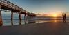 Capturing the Sunglow. (Retratando el brillo del sol). (Samuel Santiago) Tags: sun beach digital sunrise landscape pier glow florida daytonabeach fineartphotography canonef1740mmf4l canon5dmkii samuelsantiago sunglowfishingpier sammysantiago