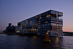 MVRDV (jopperbok) Tags: city light building adam water netherlands dutch amsterdam architecture night buildings dark lights restaurant harbor office dam silo appartment silodam mvrdv ijmeer houthaven jopperbok