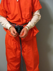 IMG_6821 (bob.laly) Tags: uniform chain jail shackles padlock handcuffs prisoner jumpsuit inmate
