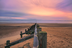Portobello Sunrise (Thanks for all the Likes & Comments) (MilesGrayPhotography (AnimalsBeforeHumans)) Tags: uk longexposure autumn sea sky beach water sunrise canon landscape outdoors photography eos dawn scotland town photo seaside edinburgh europe glow colours britain wide nd portobello usm colourful ef firthofforth waterscape 6d 24105 portobellobeach f4l auldreekie canonef24105mmf4lisusm nd1000 nd30 canon6d canoneos6d 10stopper