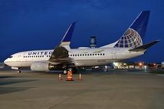 N17730 United 737-724 at KCLE (GeorgeM757) Tags: airplane airport aircraft aviation united boeing clevelandhopkins kcle 737724 alltypesoftransport nightairplane n17730 spiltscimitarwinglets