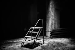 Spotlight (Jürgen Mayer) Tags: light bw monochrome stairs dark keller licht blackwhite stair darkness pentax treppe 1750 sw tamron cellar useless dunkel dunkelheit sinnlos supershot tamron281750 pentaxart 281750