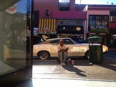 Street Life (misterbigidea) Tags: hot explore wheelsdowntownberkeleycaliforniastreetviewneighborhoodbeautyparkedcarvintageclassicpanhandlerreflectionsidewalk wheelspontiaclemansmusclecar
