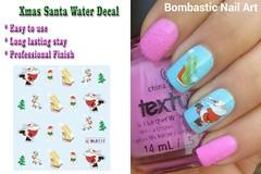 BLE111 NAIL (Jasmeet.k) Tags: santa christmas xmas tree art water nail slide musical decal transfer nailart bombastic