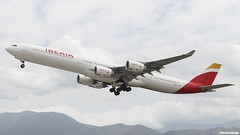 Airbus A340-642 / Iberia / EC-LEV (Vicente Quezada /// Photography) Tags: chile santiago españa aviation off civil airbus take a340 iberia comercial scl aviación a346 a340642 scel eclev civilean