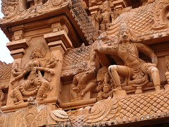 The Big Temple (12): Sculptures on Tower/Gopuram (v s raam (on/off)) Tags: india tower architecture temple big lord bull unescoworldheritagesite mount nandi shiva gigantic thanjavur siva lingam tamil nadu shikara sikhara chola the consort kovil tanjore vimanam shikhara nandhi sanctorum periya rajarajachola vahana vimana mahalingam thanjai santum sikara brihadeeswarartemple tanjai rajarajacholai rajarajeswaram greatlivingcholatemples peruvudaiyarkovil garbhagriha rajarajeshwaratemple tanchai thanchai brihannayagi