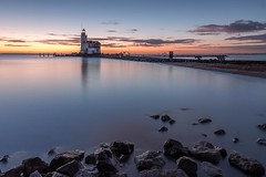 Dawn at the lighthouse (Stef van Winssen) Tags: longexposure lighthouse lake seascape sunrise dawn marken paard