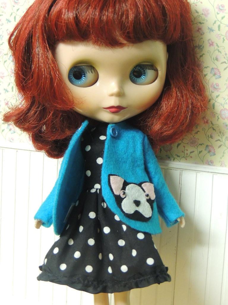 0b3a5cb24258 a little boston terrier coat  amp  polka dot dress I made for sweet Sue (