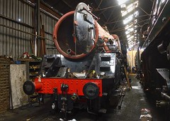 Great Central Railway Loughborough Leicestershire 8th January 2017 (loose_grip_99) Tags: greatcentral railway railroad rail loughborough leicestershire england eastmidlands steam engine locomotive train gassteam preservation transportation trains railways shed britishrailways standard 5mt 73156 works january 2017