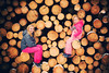 Logs (cpo-photography {C Owen}) Tags: logs pine fun paderborn senne kids cold logging trees vibrant smiles