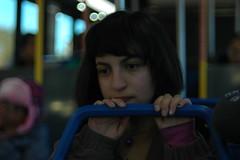 Takumar lens test (lilliereynaga) Tags: takumarlens takumar metro bus bangs pondering thinking portrait friend