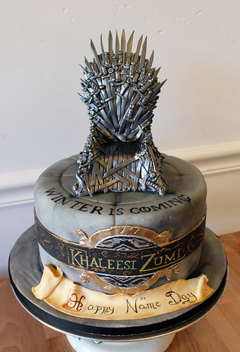 Iron Throne Name Day Cake