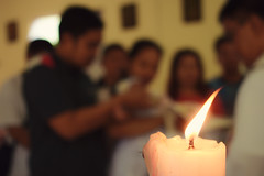 Christening (Leitratista) Tags: baptism christening candle flame dof explore lovephotography hobby love
