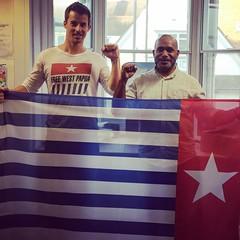 geoff-clark-benny-wenda (geoffreyjamesclark) Tags: free west papua benny wenda geoff clark geoffrey james