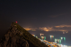 The Rock by Night (Oliver J Davis Photography (ollygringo)) Tags: gibraltar rockofgibraltar straitofgibraltar rock strait city promontory elevated stars starry sky night photography coast shipping africa europe trade atlantic mediterranean sea ocean lights illuminated upperrock naturereserve nature nikon d90