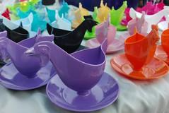 Chicken parade (jusan) Tags: chicken gdr eierbecher eggcups fleamarket plastic
